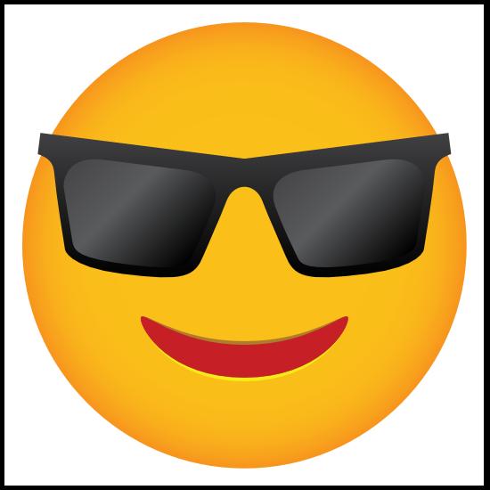 Phone Emoji Sticker Sunglasses