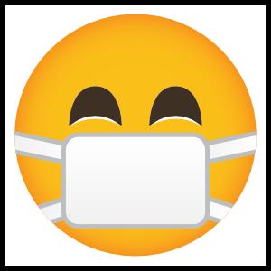 Phone Emoji Sticker Surgical Mask