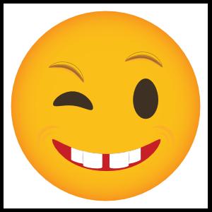 Phone Emoji Sticker Winking Smile