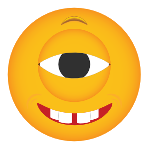 Phone Emoji Stickers Cyclops Grinning