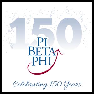 Pi Beta Phi 150 Year Celebration Sticker