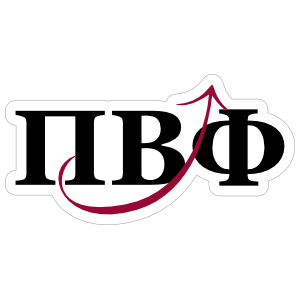 Pi Beta Phi Arrow and Letters Sticker