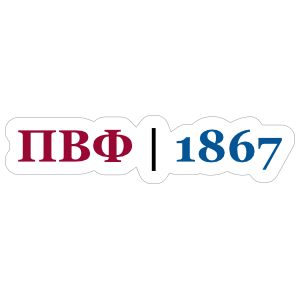Pi Beta Phi Year Founded Sticker