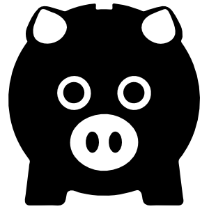 Piggy Bank Pig Face Sticker