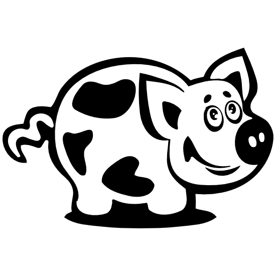 Happy Pig With Spots Sticker