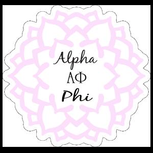 Pink Alpha Phi Mandala Sticker