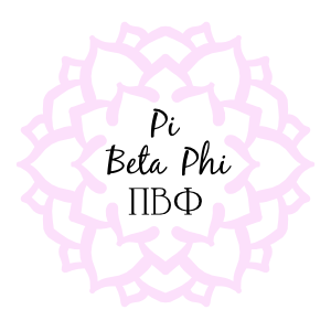 Pink Pi Beta Phi Mandala Sticker