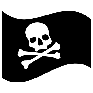 Skill And Crossbones Pirate Flag Sticker