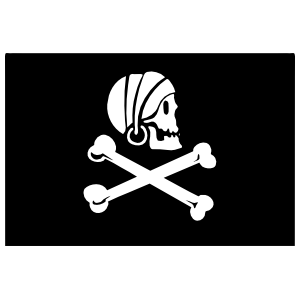 Pirate Flag With Bandanna Sticker