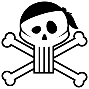 Pirate Skull And Cross Bones Sticker