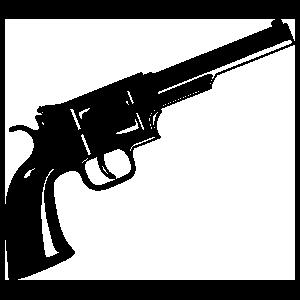 Pistol Gun Sticker