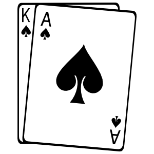 Playing Cards King And Ace Of Spades Sticker