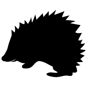 Adorable Porcupine Sticker