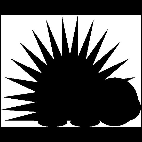 Sharp Porcupine Sticker