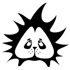 Sad Porcupine Face Sticker