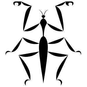 Basic Praying Mantis Sticker