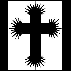 Prickly Cross Sticker