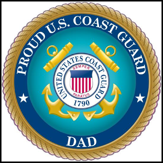Proud US Coast Guard Dad Sticker