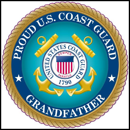 Proud US Coast Guard Grandfather Sticker