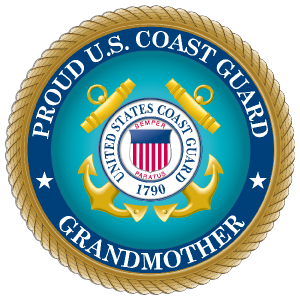 Proud US Coast Guard Grandmother Sticker