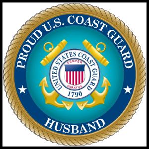 Proud US Coast Guard Husband Sticker