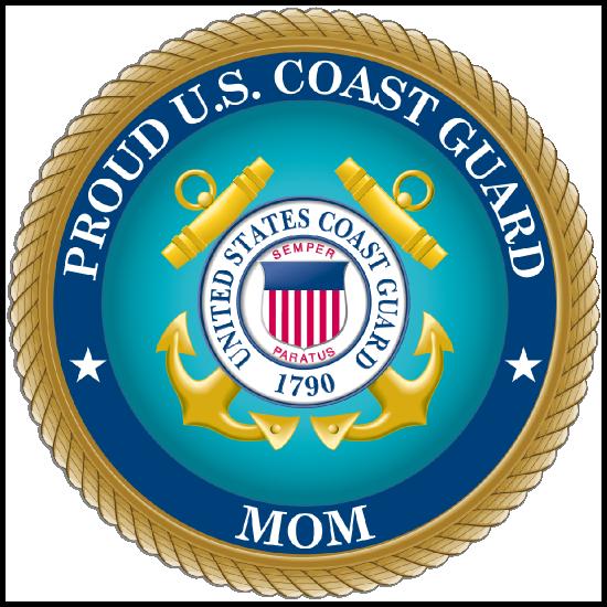 Proud US Coast Guard Mom Sticker