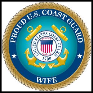 Proud US Coast Guard Wife Sticker