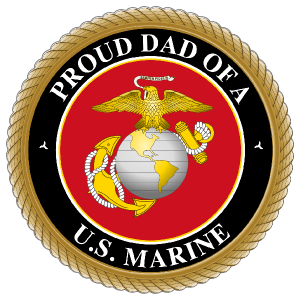 Proud US Marine Dad Sticker