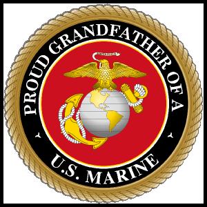 Proud US Marine Grandfather Sticker