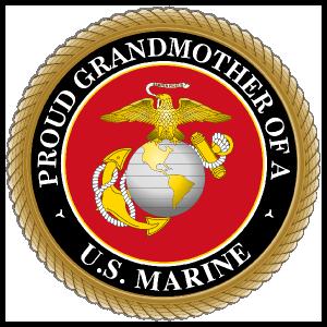 Proud US Marine Grandmother Sticker