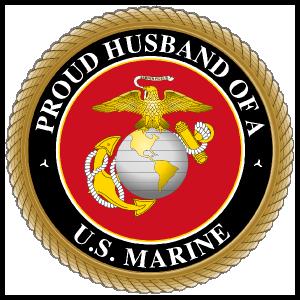 Proud US Marine Husband Sticker