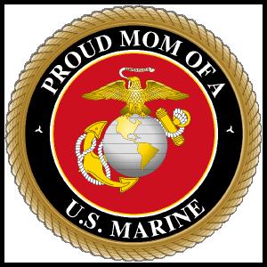 Proud US Marine Mom Sticker