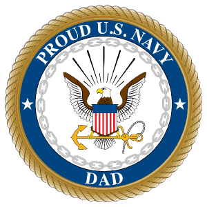 Proud US Navy Dad Sticker