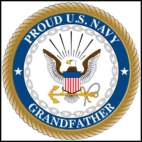 Proud US Navy Grandfather Sticker