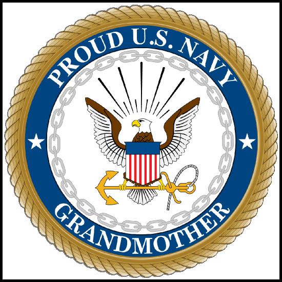 Proud US Navy Grandmother Sticker