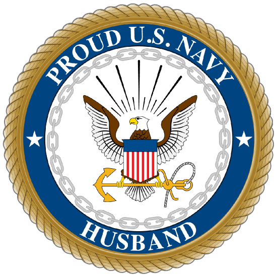 Proud US Navy Husband Sticker