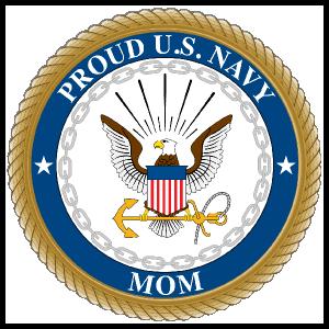 Proud US Navy Mom Sticker