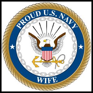 Proud US Navy Wife Sticker