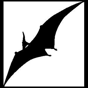 Pterodactyl Dinosaur Flying Sticker