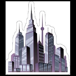 Purple City Comic Sticker