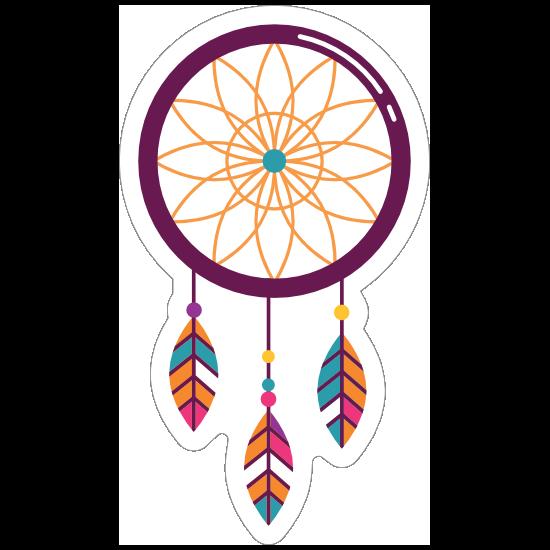 Purple Dreamcatcher Hippie Sticker