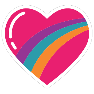 Rainbow Heart Hippie Sticker