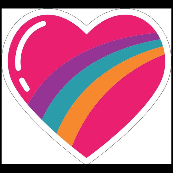 Rainbow Heart Hippie Sticker