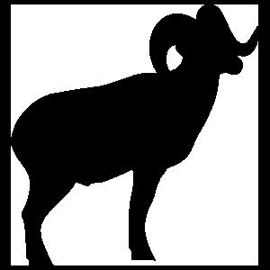Ram Silhouette Sticker
