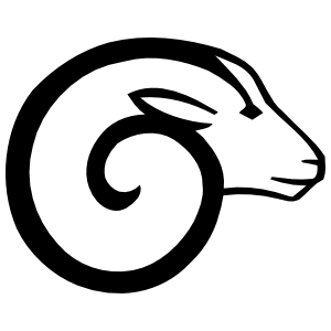 Cool Ram Head Sticker