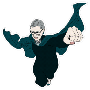 RBG Superhero Sticker
