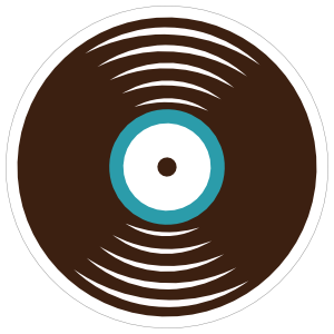 Record Disc Hippie Sticker