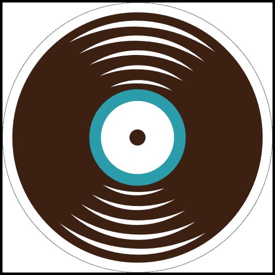 Record Disc Hippie Sticker