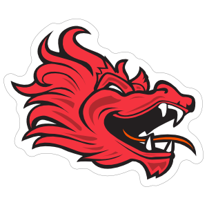 Red Dragon Mascot Sticker