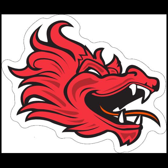 Red Dragon Mascot Sticker
